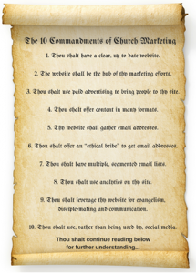 10 Commandments of Church Marketing