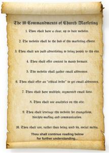 10 Commandments of Church Marketing